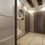 цементный камень в дизайне прихожей комнаты картинка