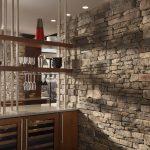 цементный камень в стилистике прихожей фото