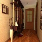 гипсовый камень в интерьере проходной комнате картинка