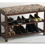 банкетки для обуви в прихожую комнату деревянная конструкция с узорами фото