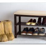 банкетка для обуви в прихожую комнату железная с узорами фото