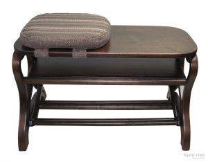 банкетки для обуви в прихожую железная конструкция с оббивкой пример