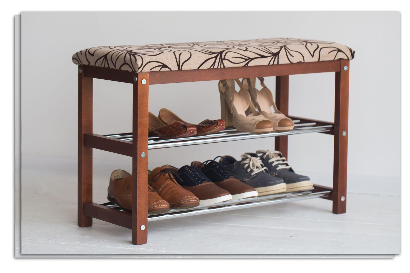 полки для обуви в прихожую комнату железная с оббивкой