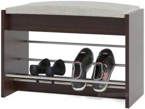 банкетки для обуви в прихожую комнату деревянная конструкция с узорами пример