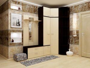 цементный камень в интерьере проходной комнате картинка