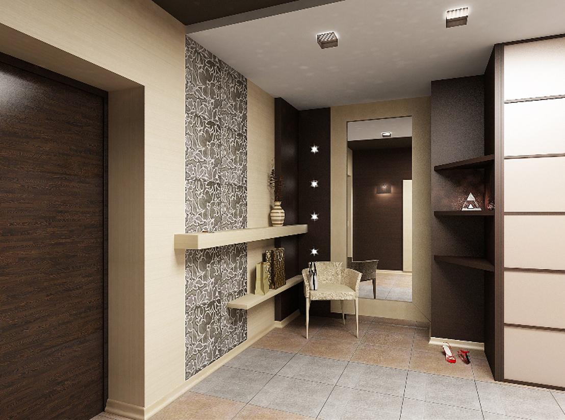 цементный камень в стилистике проходной комнате