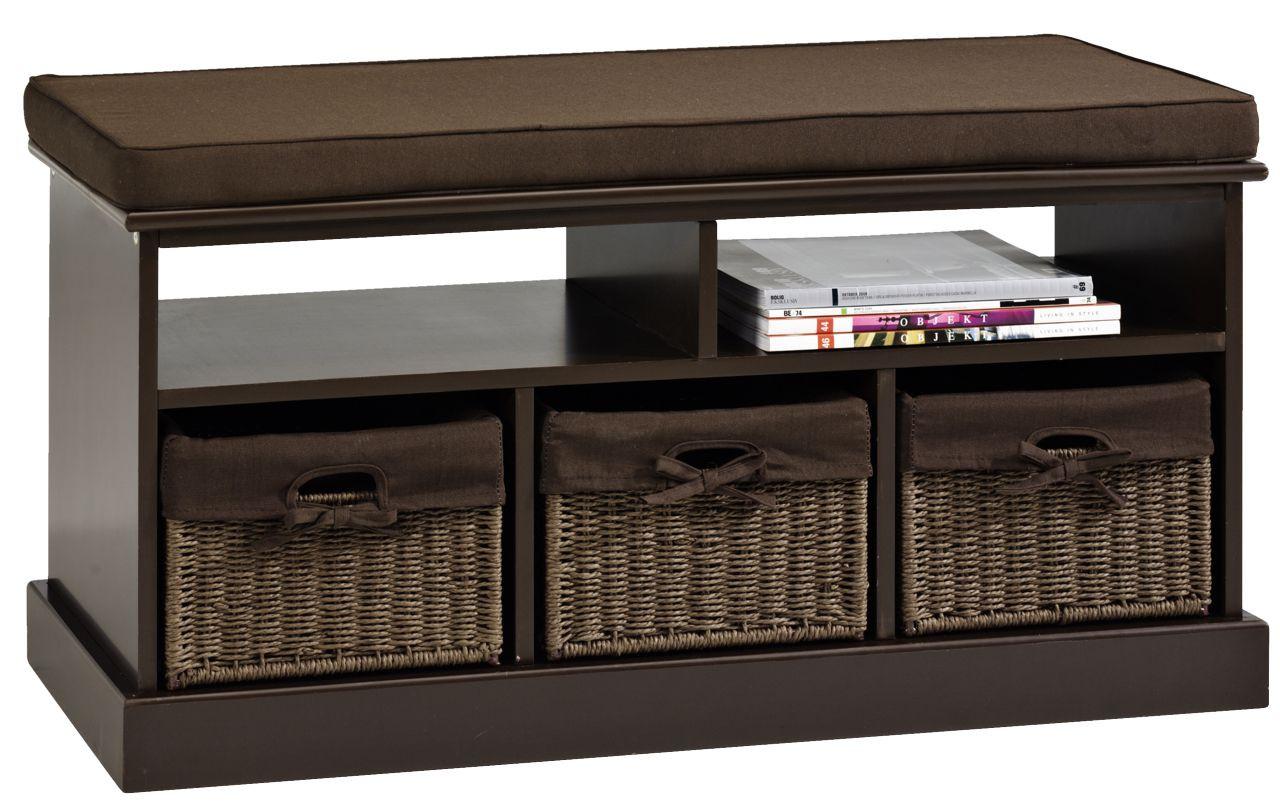 деревянная банкетка в прихожую комнату с дверцами интерьер