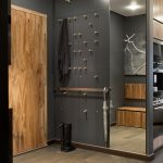 дизайн интерьера прихожей комнаты в квартире в темных тонах фото