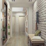 интерьер прихожей комнаты в квартире в ярких тонах фото
