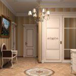 интерьер прихожей комнаты в доме в ярких тонах картинка