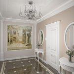 интерьер прихожей в доме в светлых тонах картинка