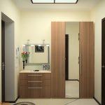 дизайн интерьера прихожей комнаты в квартире в ярких тонах картинка