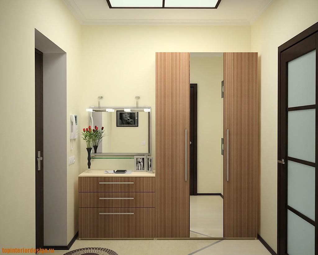 дизайн прихожей комнаты в доме в темных тонах