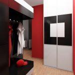дизайн интерьера прихожей в квартире в ярких тонах картинка