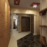 дизайн прихожей комнаты в доме в темных тонах фото