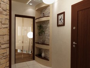 интерьер проходной комнаты в стиле скандинавия фото