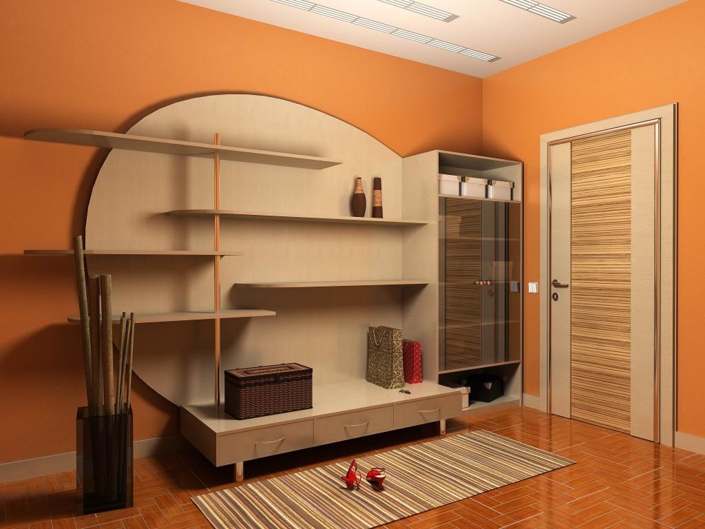 красивая прихожая комната стиль