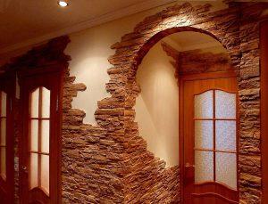 цементный камень в дизайне проходной фото