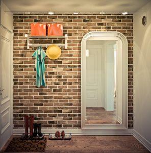 агломератный камень в стилистике прихожей комнаты фото