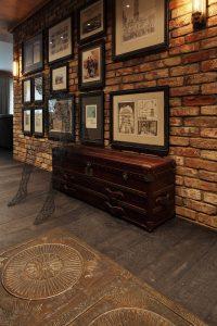 цементный камень в стилистике проходной комнате фото