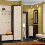 интерьер прихожей комнаты в квартире в светлых тонах картинка