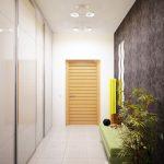 дизайн интерьера прихожей комнаты в квартире в светлых тонах фото