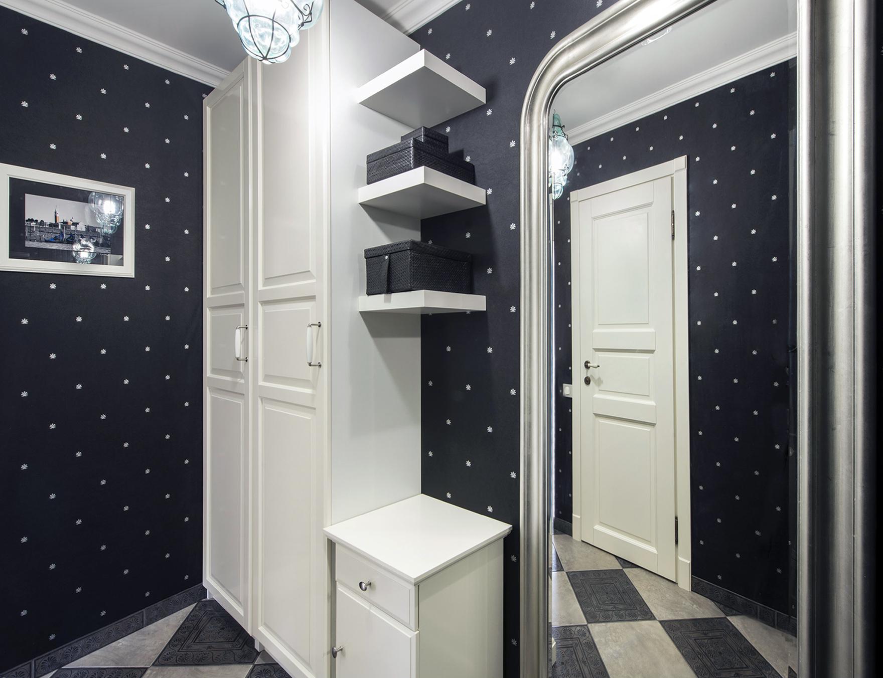 интерьер проходной комнаты в стиле классика