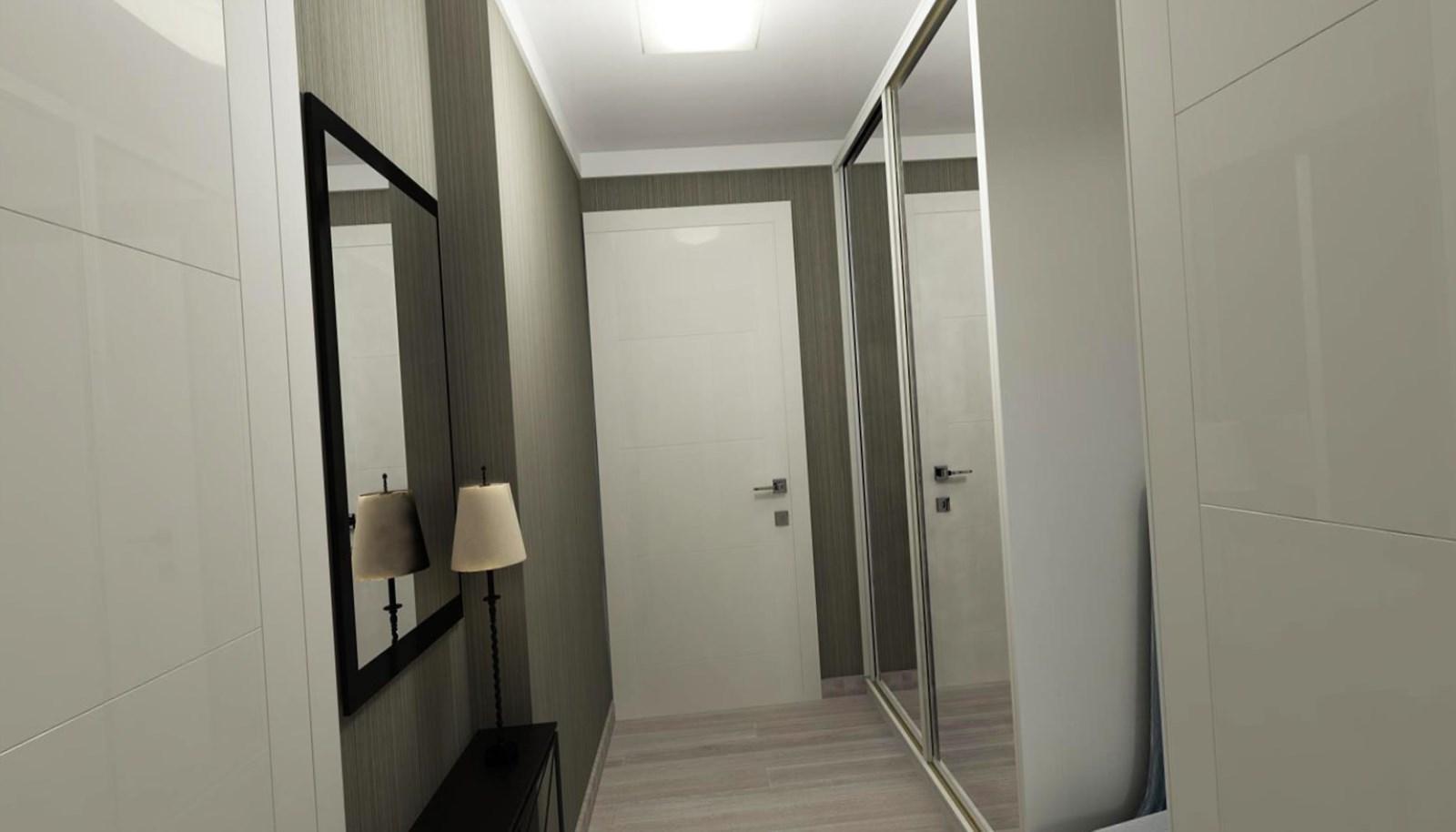 яркая маленькая прихожая комната интерьер