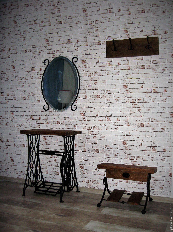 деревянная вешалка с обувницей в прихожую комнату дизайн