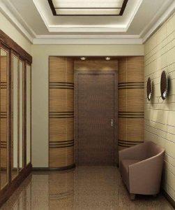 влагоустойчивые обои в проходную комнату с узорами дизайн