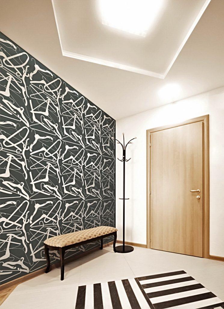 Поклейка обоев в коридоре дизайн