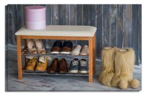 полки для обуви в прихожую комнату железная конструкция с узорами фото