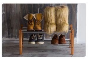 полки для обуви в прихожую железная конструкция с оббивкой фото