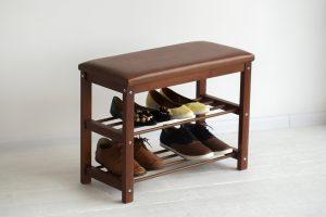 банкетки для обуви в прихожую комнату железная с узорами фото