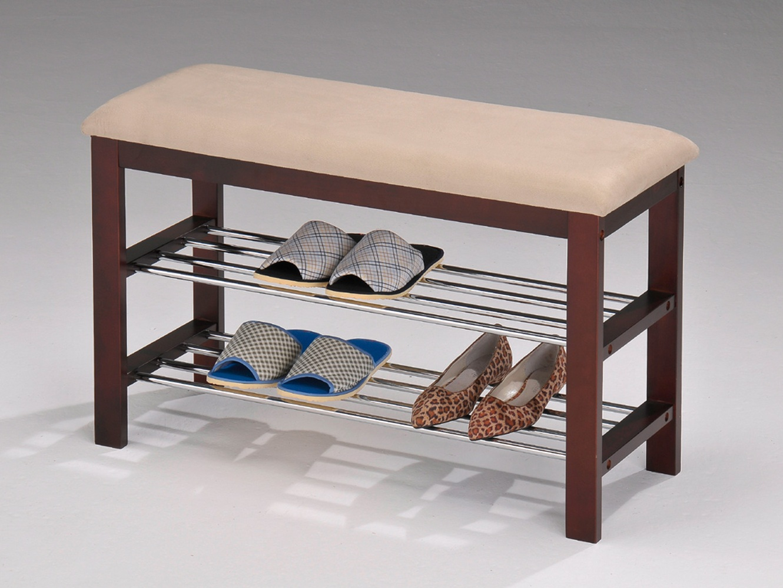 полки для обуви в прихожую комнату железная конструкция с оббивкой