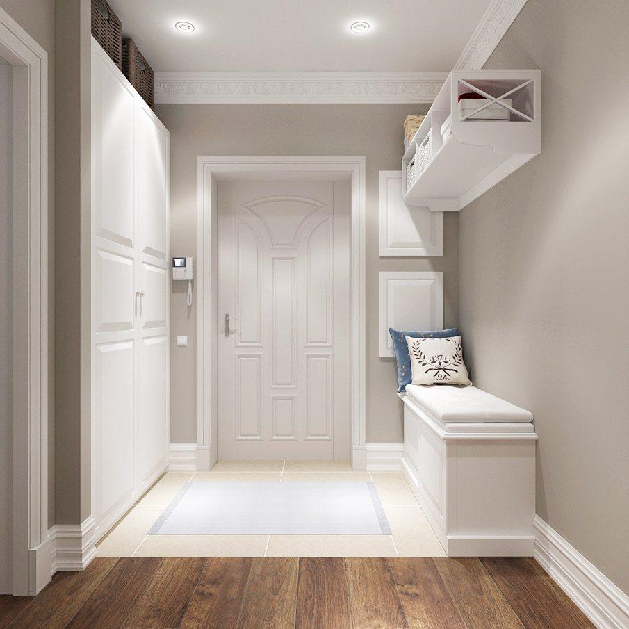 дизайн интерьера прихожей комнаты в квартире в ярких тонах