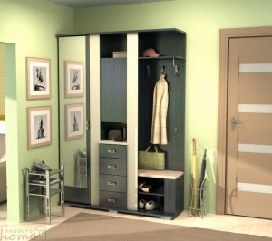 интерьер прихожей комнаты в стиле классика картинка