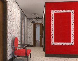 интерьер проходной комнаты в стиле япония картинка