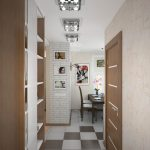 яркая маленькая прихожая комната дизайн картинка