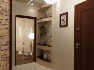 влагоустойчивые обои в проходную комнату с принтами дизайн