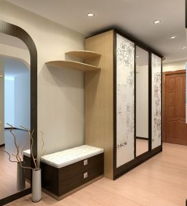 дизайнерская маленькая прихожая комната интерьер картинка