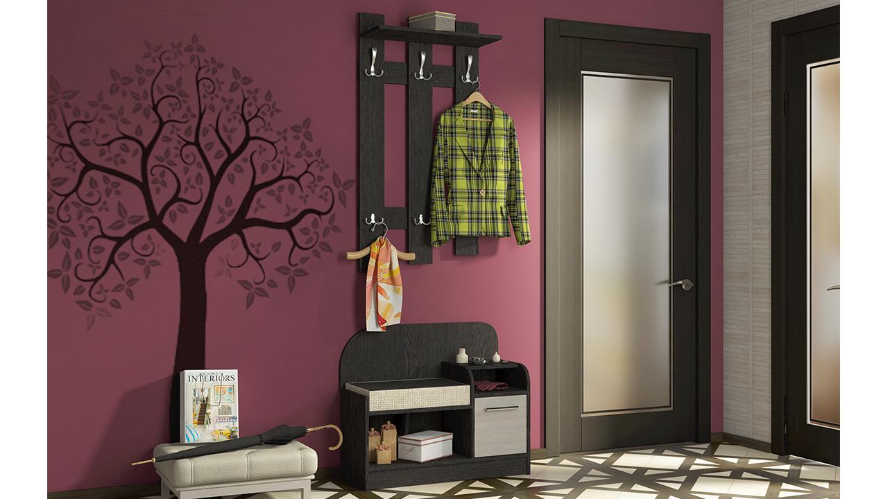 шкаф в прихожую комнату из дерева