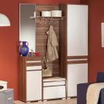 шкаф с зеркалом в прихожую из качественного дерева фото