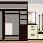 широкий шкаф в коридор интерьер