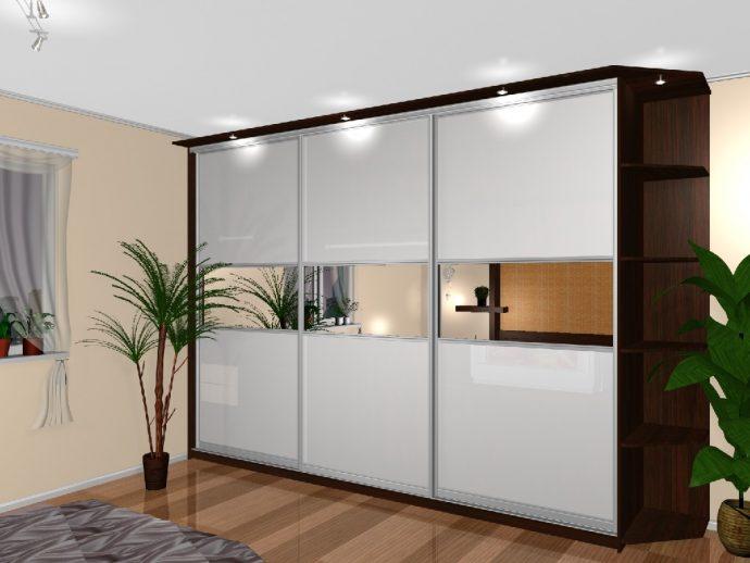 большой шкаф в проходную комнату интерьер