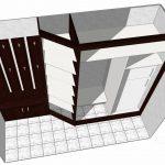 небольшой шкаф купе в коридор дизайн