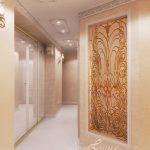 светлая прихожая комната в классическом стиле дизайн фото