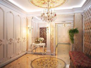светлая коридор в классическом стиле дизайн картинка