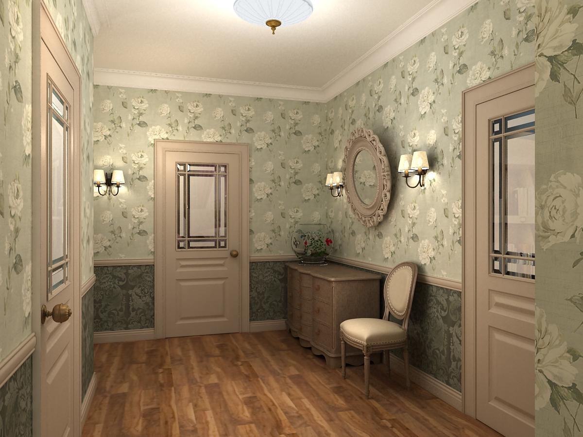 дизайнерская прихожая комната в стиле прованс