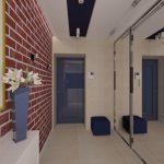 яркая отделка проходной комнаты мдф фото